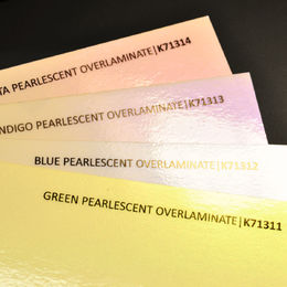 K71312 Blue Pearlescent Overlaminate